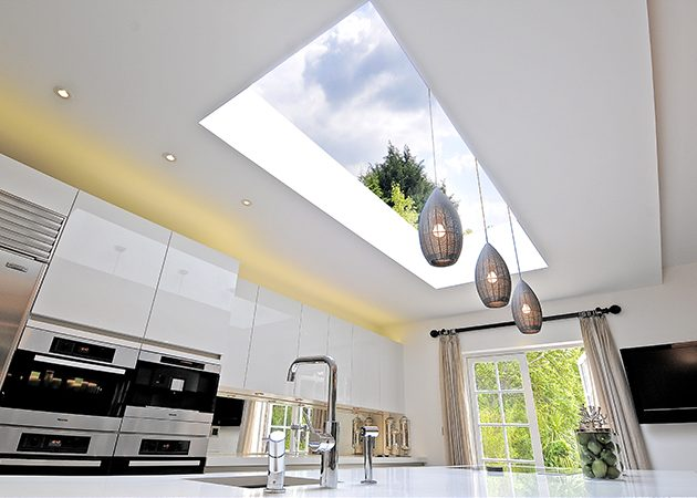 winnington close sky-light kitchen